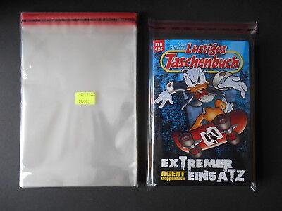 500 Stk Comic Hüllen Schutzhüllen Taschenbücher  15x20 mit Verschluss