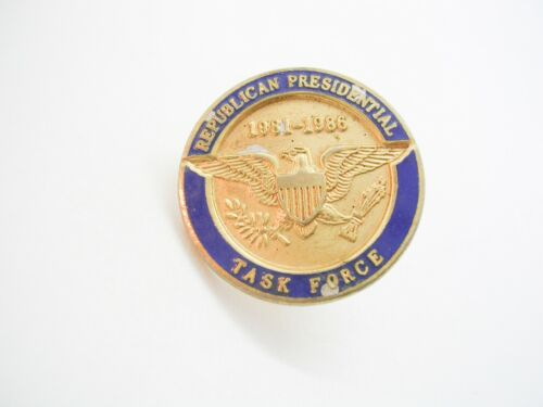 Vintage political Campaign Pin GOP Republican Presidential Task Force