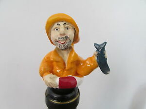 FISHERMAN-NOVELTY-WINE-BOTTLE-STOPPER-GIFT-BOXED-WINE-SAVER-DEEP-SEA-CAKE-TOPPER