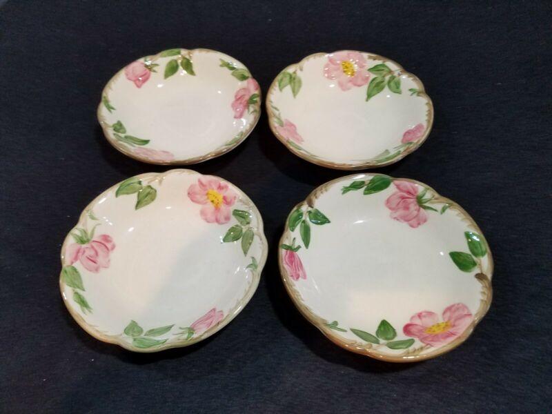 Vintage Franciscan Desert Rose Fruit Bowls (4) Excellent Cond. Made in USA