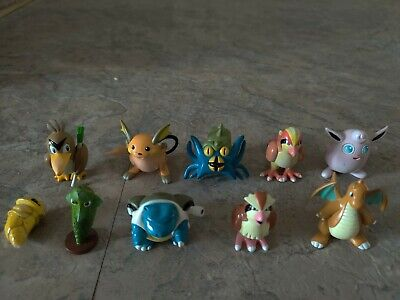 Pokemon Lot Of 10 Figures TOMY, Nintendo PVC, please read description!