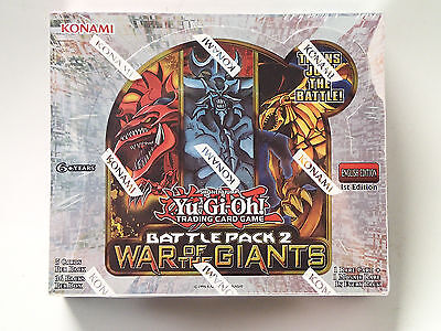 Giants Booster Pack - Yu-Gi-Oh CCG WAR of the GIANTS factory sealed booster box! 1st Edition! English