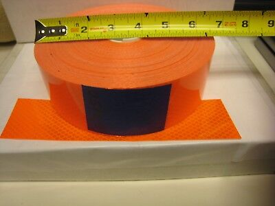 3m Brand Neon Orange Reflective  Conspicuity Tape 2 X 150 Feet