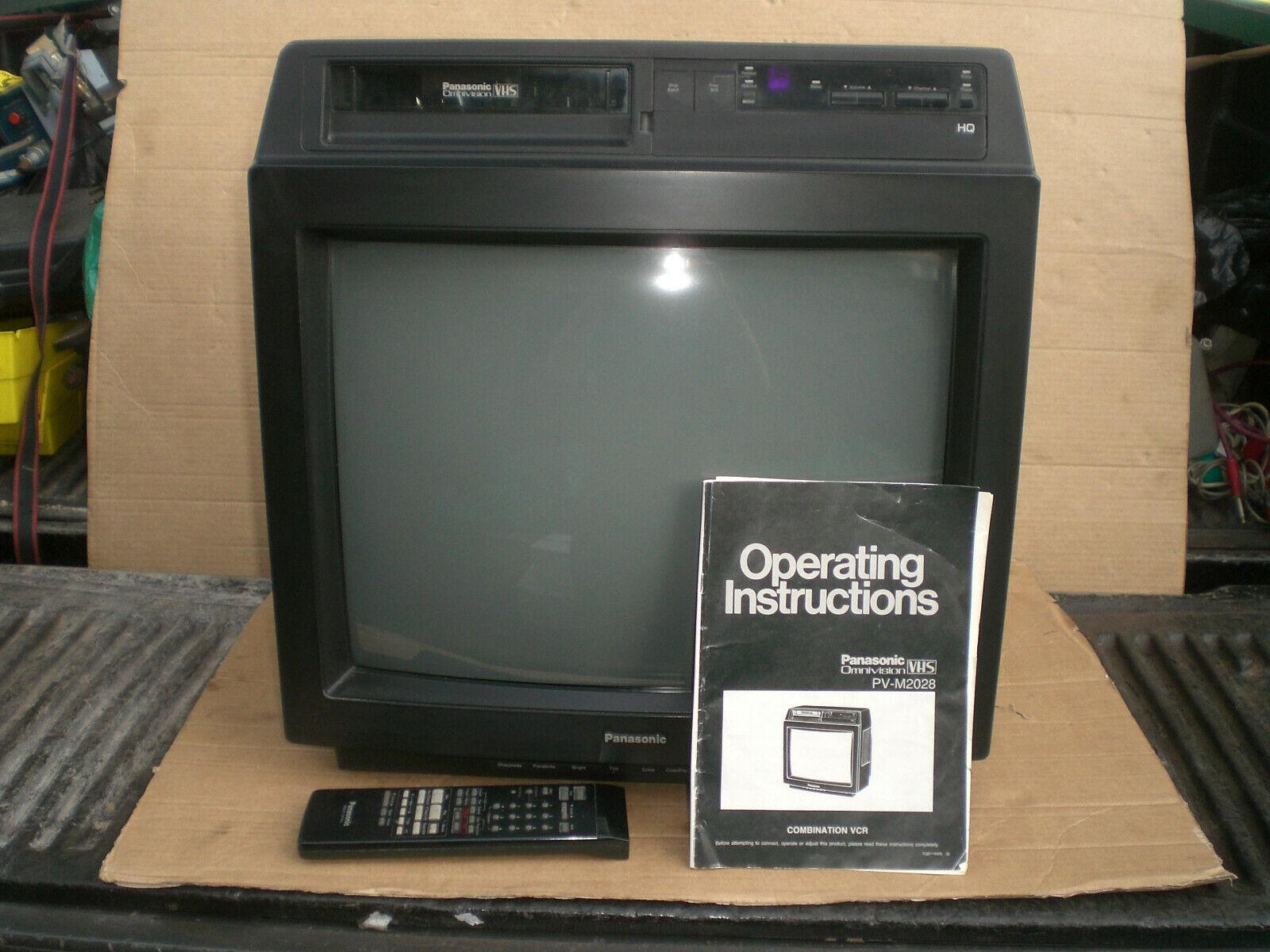 "Panasonic 20"" Crt VHS Combo color Television model PV-M2028"