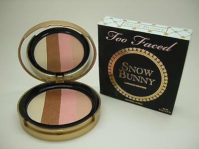 TOO FACED SNOW BUNNY LUMINOUS BRONZER BRONZING POWDER, FULL SIZE, CRACKED POWDER