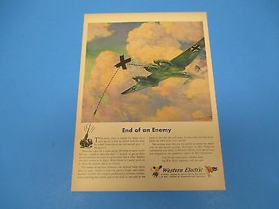 1944 Print Ad Western Electric, In Peace Source of Supply for Bell System, PA014