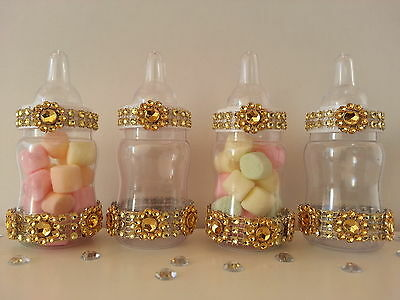 12 Fillable Bottles for Baby Shower Favors Prizes or Games Its a Girl Decoration