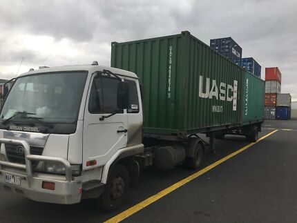 Semi truck and trailer for sale with permanent work