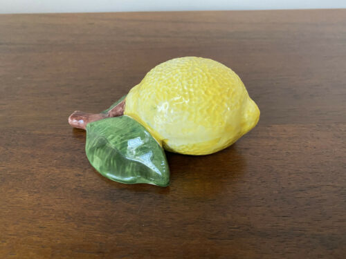 Ceramic Decorative Lemon with Leaf