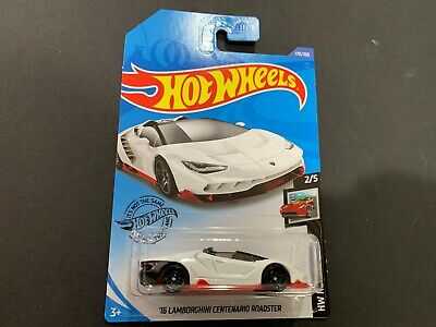 Hot Wheels Lamborghini Centenario Roadster White 16 170/250 1/64