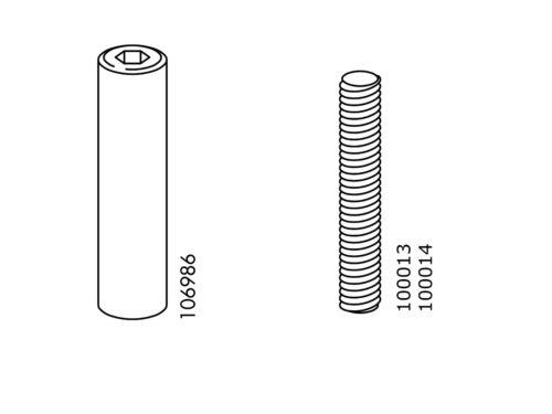 4 IKEA 100013 106986 Svarta BUNK BED Nut Sleeve  Threaded pins