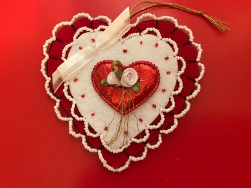Red Valentine's Day or Heart ornament
