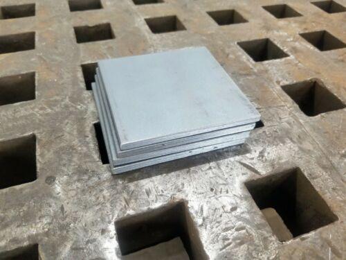 "1/4"" Steel Plate 4"" x 4"" Flat Bar A36, 4 PIECES"