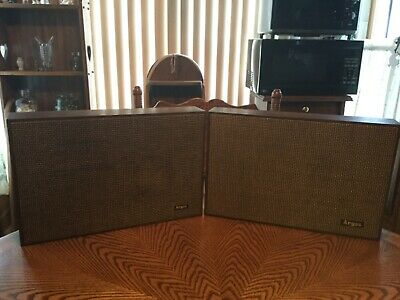 VINTAGE MID CENTURY ARGOS MODEL PHF-1S SPEAKERS 2-Way Jensen Speakers - Working