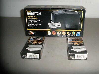 Bostitch Impulse 25 Electric Stapler Black 2210 W2 Packs Staples