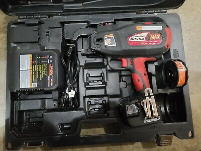 Re-bar-tier Max Rb398 Cordless 14.4 Li-ion Re-bar Tying Tool Wcharger Kit