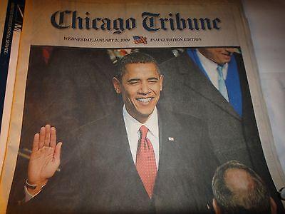 Chicago Tribune Newspaper Wednesday  January 21  2009  Inauguration Edition