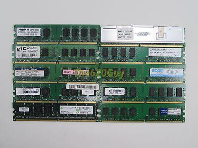 Lot of 10 Mix 2GB PC2-6400U DDR2 800 Non-ECC Unbuffered Desktop Memory Sticks