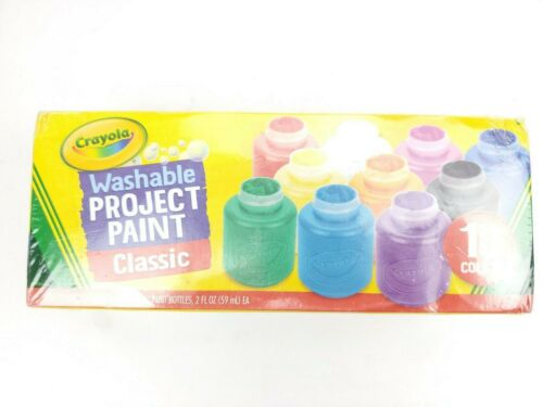 Crayola Washable Project Paint Classic for Kids Crafts & Painting - 10 Colors