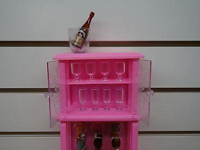 Gloria, Barbie Doll Furniture/ 96012 A/B Wine Cabinet Play Set