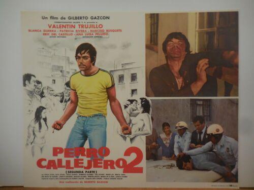 PERRO CALLEJERO 2, SET DE 2  ORIGINAL VINTAGE MEXICAN LOBBY CARD