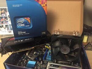 Motherboard CPU RAM and video card