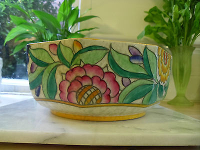 CHARLOTTE RHEAD PERSIAN ROSE BOWL 1930'S VINTAGE CROWN DUCAL