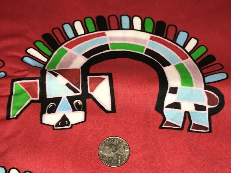 Fabric Native American Zuni Rainbow Dancer Hand Designed on Kona Cotton 1/4 Yard