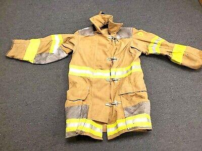 36x35 Brown Globe Firefighter Jacket Turn Out Gear No Liner Jnl-12