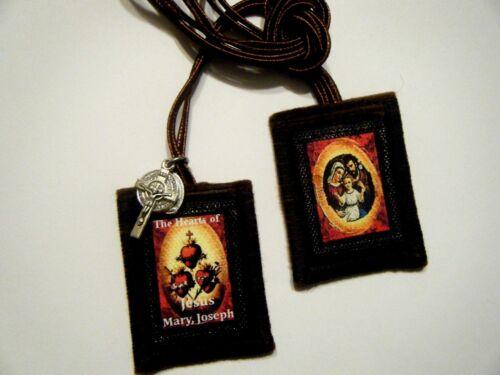 The 3 Hearts Of Jesus Mary Joseph Scapular