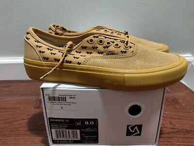 Brand new Vans Syndicate Wtaps Yellow Wings Authentic S Size 8 Golf Wang