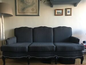Antique upholstered couch
