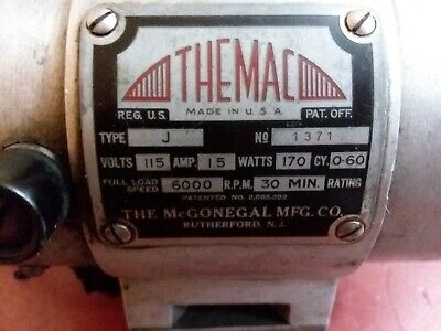 Themac Tool Post Grinder Model J 115v 1.5 Amp Lathe Metal Working