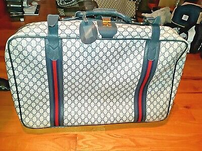 """AUTHENTIC VINTAGE Gucci Monogram Luggage Suitcase! 27 x 16 x 8"""" ! FREE SHIPPING!"""