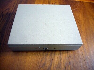 Vintage Metal Cash Box With 2 Keys And Plastic Insert Fire Proof