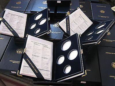 Gold Eagle 4 Piece - 1988 Proof Gold Eagle 4 Piece Original Empty Mint Box & Certificate COA