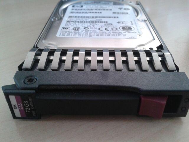 """HP ProLiant 72GB HDD SFF 2.5"""" SAS 10K HotPlug 375861-B21 434916-001 Garantie"""