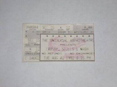 Crosby Stills and Nash Concert Ticket Stub-1992-Universal Amphitheatre-L.A.,CA