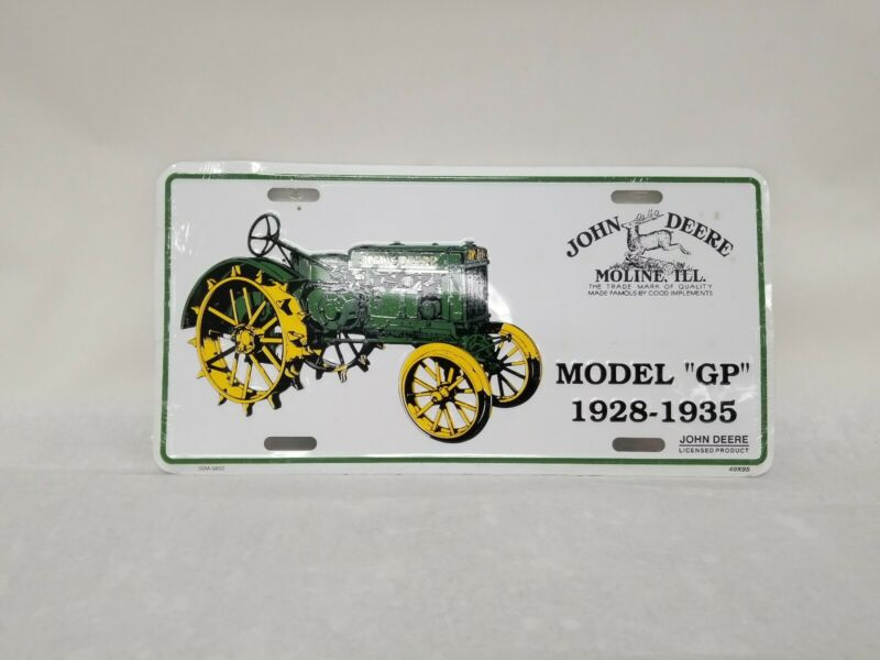 John Deer Tractor Model GP License Plate - New and Sealed