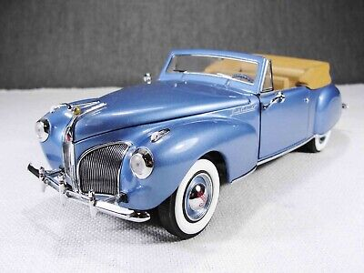 1/24 Scale 1941 Lincoln Continental MKI Blue Model Car with Box Franklin Mint
