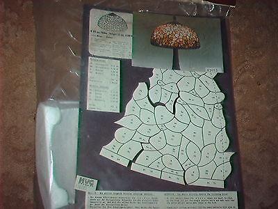 1 Tiffany - Lampenform, Hartschaumform, Blüten T.