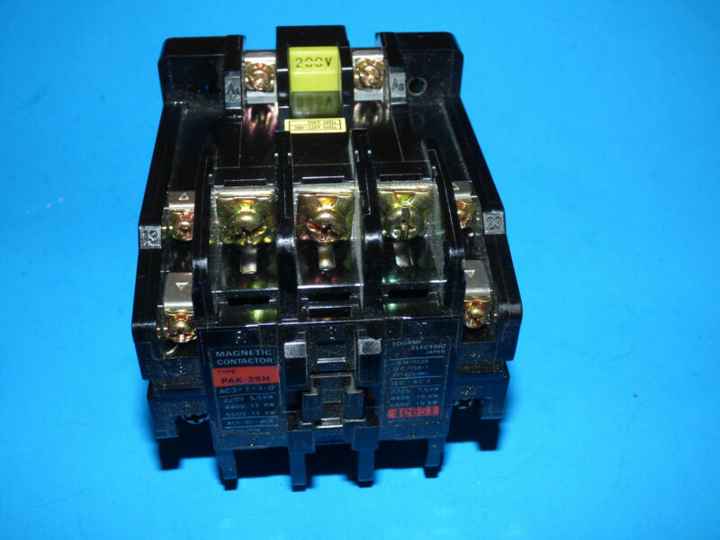 New Togami Electric PAK-25H Magnetic Contactor Mitsubishi JEM-1038 Motor Starter