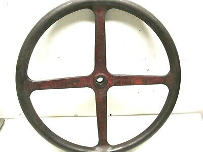 Antique International Harvester Farm Tractor Cast Iron Steering Wheel 17 2