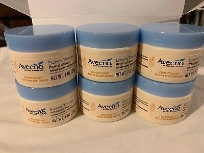 Lot Of 6 Aveeno Eczema Therapy Itch Relief Balm. 1oz. New Sealed. Exp 09/2020 Itch Relief Ointment