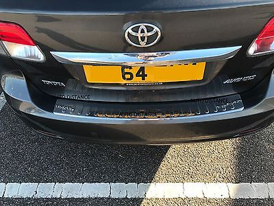 TOYOTA AVENSIS ESTATE  Rear Bumper Protector  STAINLESS STEEL  2010-2015 DENTED