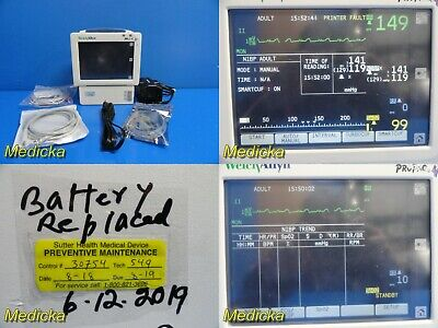Welch Allyn Propaq Cs-242 Patient Monitor W New Battery Patient Leads 18212
