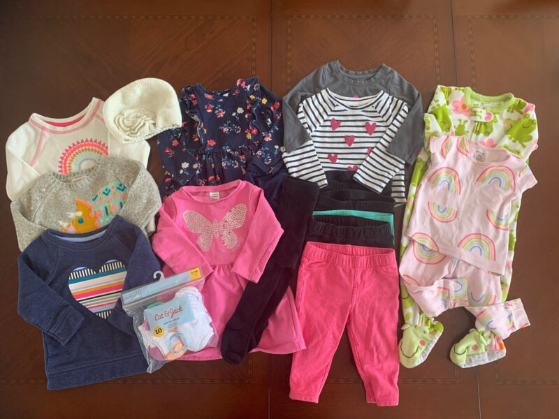 Girls 12 Month Winter Outfits Dress Pajamas Lot Carters Cat And Jack
