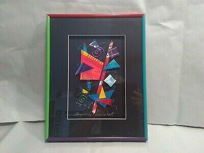 L40 Multi Media Framed Art Work Signed by Angela Reichert~11