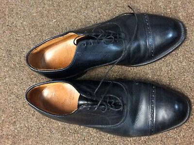 Allen Edmonds Byron Mens Dress Shoes Black Leather Captoe 8 1/2 EEE