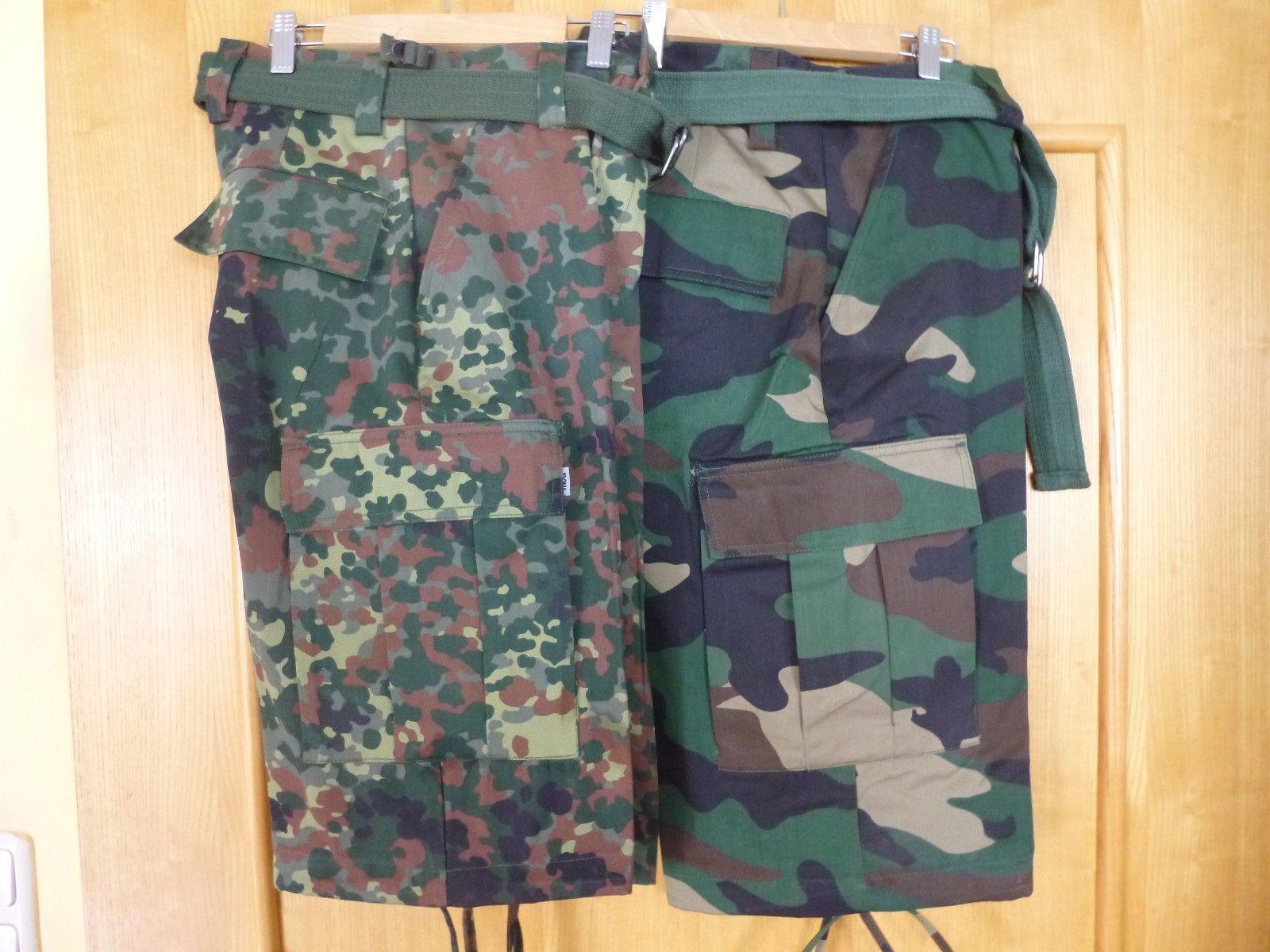 US BDU Shorts kurze Hose Bermuda Cargo Shorts Tarnhose Rangerhose Neu Gürtel 01